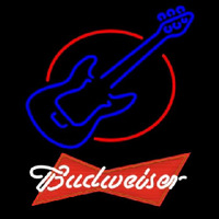 Budweiser Red Red Round Guitar Beer Sign Neon Sign