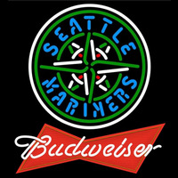 Budweiser Red Seattle Mariners MLB Beer Sign Neon Sign
