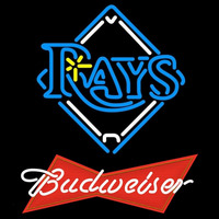 Budweiser Red Tampa Bay Rays MLB Beer Sign Neon Sign