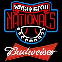 Budweiser Red Washington Nationals MLB Beer Sign Neon Sign