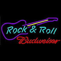 Budweiser Rock N Roll Guitar Beer Sign Neon Sign