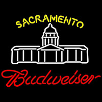 Budweiser Sacramento California State Capital Beer Sign Neon Sign
