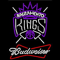 Budweiser Sacramento Kings NBA Beer Sign Neon Sign