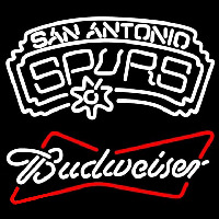 Budweiser San Antonio Spurs NBA Beer Sign Neon Sign