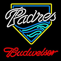 Budweiser San Diego Padres MLB Beer Sign Neon Sign