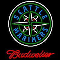 Budweiser Seattle Mariners MLB Beer Sign Neon Sign