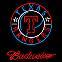 Budweiser Texas Rangers MLB Beer Sign Neon Sign