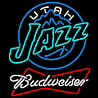 Budweiser Utah Jazz NBA Beer Sign Neon Sign