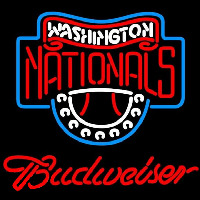 Budweiser Washington Nationals MLB Beer Sign Neon Sign