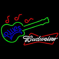 Budweiser White Blues Guitar Beer Sign Neon Sign