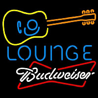 Budweiser White Guitar Lounge Beer Sign Neon Sign
