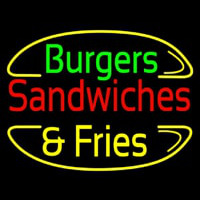 Burgers And Fries Neon Sign
