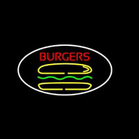 Burgers Oval Neon Sign