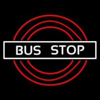 Bus Stop Border Neon Sign