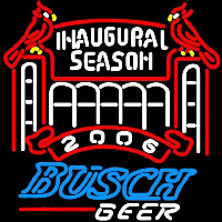 Busch 2006 Cardinals Stadium Beer Sign Neon Sign