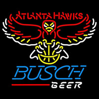 Busch Atlanta Hawks NBA Beer Sign Neon Sign