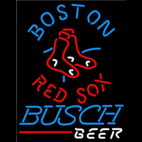 Busch Boston Red Sox MLB Beer Sign Neon Sign