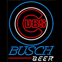 Busch Chicago Cubs MLB Beer Sign Neon Sign