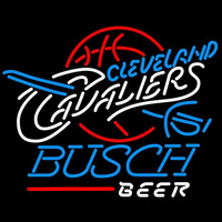 Busch Cleveland Cavaliers NBA Beer Sign Neon Sign