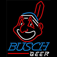 Busch Cleveland Indians MLB Beer Sign Neon Sign