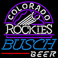 Busch Colorado Rockies MLB Beer Sign Neon Sign