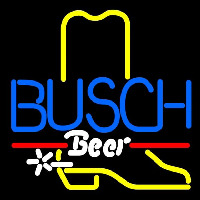 Busch Cowboy Boot Beer Sign Neon Sign