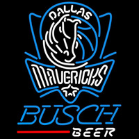 Busch Dallas Mavericks NBA Beer Sign Neon Sign
