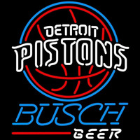 Busch Detroit Pistons NBA Beer Sign Neon Sign