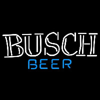 Busch Double Stroke Word Beer Sign Neon Sign