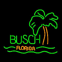 Busch Florida with Palm Tree Beer Sign Neon Sign