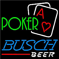 Busch Green Poker Beer Sign Neon Sign