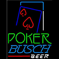 Busch Green Poker Red Heart Beer Sign Neon Sign
