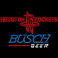 Busch Houston Rockets NBA Beer Sign Neon Sign