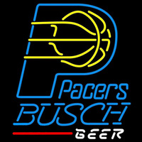 Busch Indiana Pacers NBA Beer Sign Neon Sign