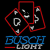 Busch Light Ace And Poker Beer Sign Neon Sign