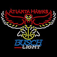 Busch Light Atlanta Hawks NBA Beer Sign Neon Sign