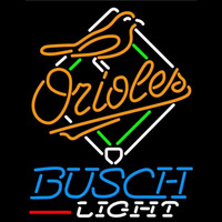 Busch Light Baltimore Orioles MLB Beer Sign Neon Sign