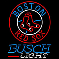 Busch Light Boston Red Sox MLB Beer Sign Neon Sign