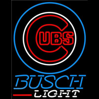 Busch Light Chicago Cubs MLB Beer Sign Neon Sign