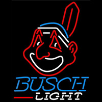Busch Light Cleveland Indians MLB Beer Sign Neon Sign