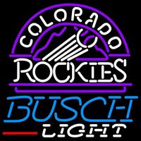 Busch Light Colorado Rockies MLB Beer Sign Neon Sign