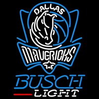 Busch Light Dallas Mavericks NBA Beer Sign Neon Sign