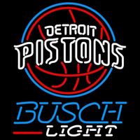 Busch Light Detroit Pistons NBA Beer Sign Neon Sign