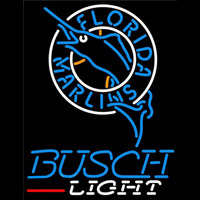 Busch Light Florida Marlins MLB Beer Sign Neon Sign
