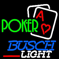 Busch Light Green Poker Beer Sign Neon Sign