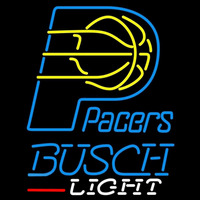 Busch Light Indiana Pacers NBA Beer Sign Neon Sign