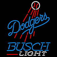 Busch Light Los Angeles Dodgers MLB Beer Sign Neon Sign