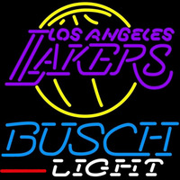 Busch Light Los Angeles Lakers NBA Beer Sign Neon Sign