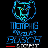Busch Light Memphis Grizzlies NBA Beer Sign Neon Sign