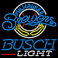 Busch Light Milwaukee Brewers MLB Beer Sign Neon Sign